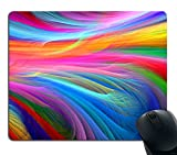 Smooffly Mouse Pad pad Rainbow Ocean Customized Rectangle Non-Slip Rubber Mousepad Gaming Mouse Pad
