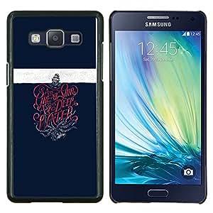 """Be-Star Único Patrón Plástico Duro Fundas Cover Cubre Hard Case Cover Para Samsung Galaxy A5 / SM-A500 ( Buque Kraken monstruo marino Velero"""" )"""