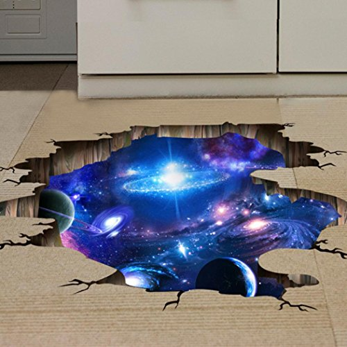 IEason Wall Stickers Clearance Sale! 3D Bridge Floor/Wall Sticker Removable Mural Decals Vinyl Art Living Room Decors (D) by IEason (Image #3)