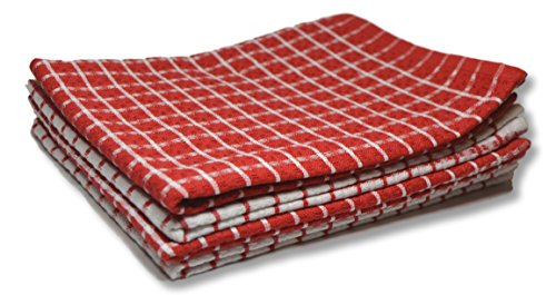 The Linen Bazaar Waffle Weave Kitchen Dish Cloth Towels, Sup