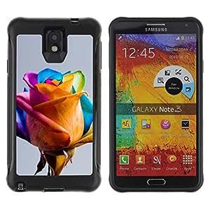 Suave TPU Caso Carcasa de Caucho Funda para Samsung Note 3 / Colorful Yellow Blue Pink Spring / STRONG