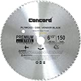 Concord Blades PLY0650T150HP 6-1/2-Inch 150 Teeth Plywood Steel Saw Blade