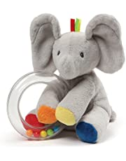 GUND Flappy The Elephant Rattle Plush Toy, Gray, 5 inch