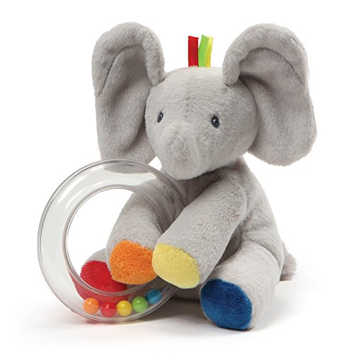 "(Baby GUND Flappy the Elephant Stuffed Animal Rattle Plush Toy, 5"")"