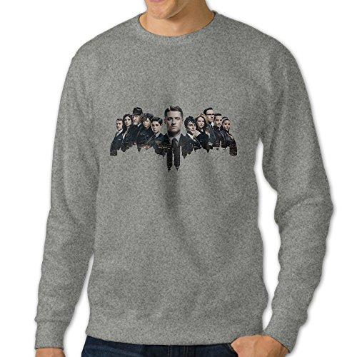 Bekey Men's Gotham Poster Hoodie Sweatshirt Size S Ash