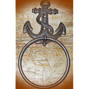 Cast Iron Antique Style Rustic BLACK BEAR Door Knocker Hunting Camp TOWEL RING