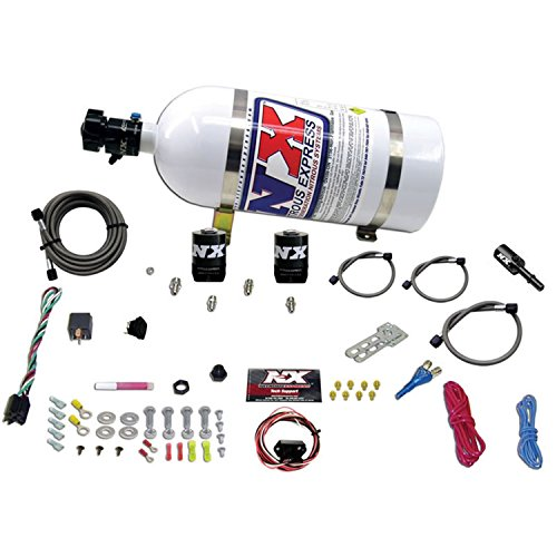 Nozzle System Single (Nitrous Express 20918-10 35-150 HP Single Nozzle Fly-By-Wire System with 10 lbs. Bottle for Chrysler HEMI and SRT8)