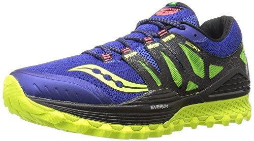 Saucony Men's Xodus Iso Trail Running Shoe, Blue/Black/Citron, 11.5 M US ()