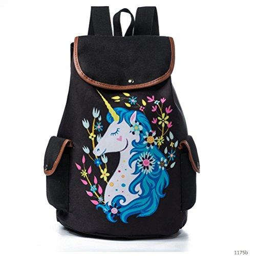 Amazon.com: Winerbag Trendy Women Drawstring Backpacks Cute Unicorn Print School Bags For Girls Preppy Style Female Floral Travel Rucksack 1175b: Sports & ...