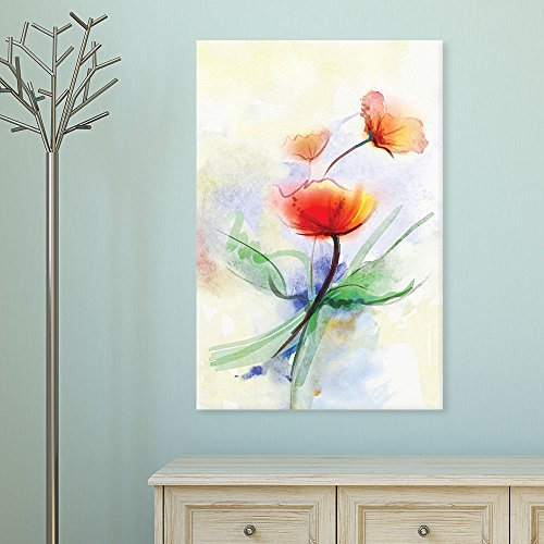Watercolor Style Abstract Red Flowers Gallery