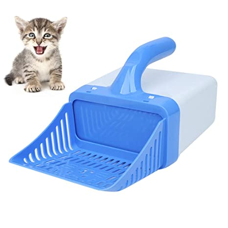 Legendog Cuchara para Gatos Pala De Basura para Mascotas Tamiz De Camada para Gatitos con Bolsa
