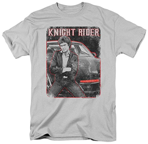 Adults Michael Knight And Kitt T-Shirt - S to 3XL