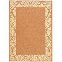 Courtyard Rug CY2727 Terracotta Natural 2ft x 4ft