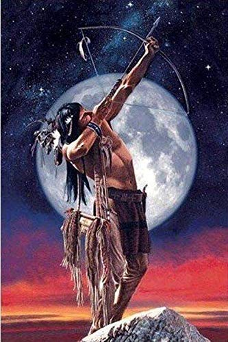Native American Paint - WiHome 5D Diamond Painting Kits for Adults Full Drill Native American Man with Bow Embroidery Rhinestone Painting