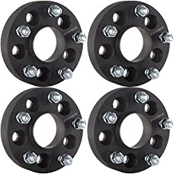 "ECCPP 4X 1.25 Hub Centric Wheel Spacer Adapters 5x4.5 to 5x5 5 Lug for Jeep Wrangler JK Rims on A TJ YJ 1/2"" x20 Studs"