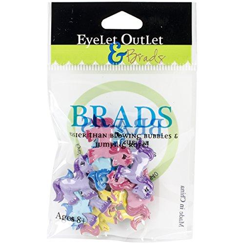 Eyelet Outlet Pony Shape Brads 12/Pack