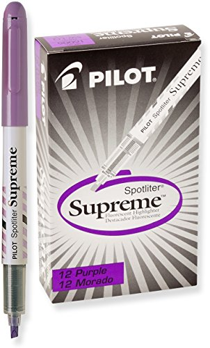 Pilot Spotliter Supreme Fluorescent Highlighters, Chisel Tip, Purple, Dozen Box ()