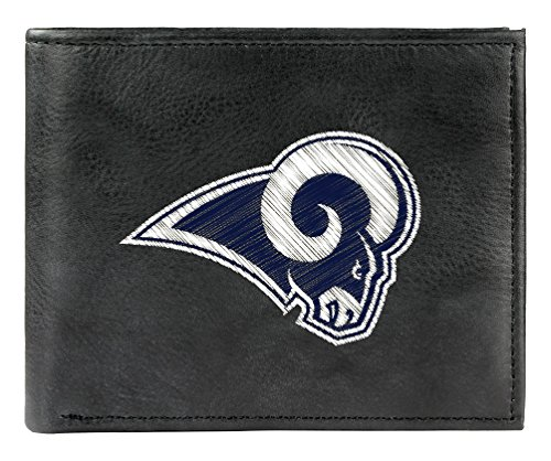 NFL Los Angeles Rams Embroidered Leather Billfold Wallet by Rico