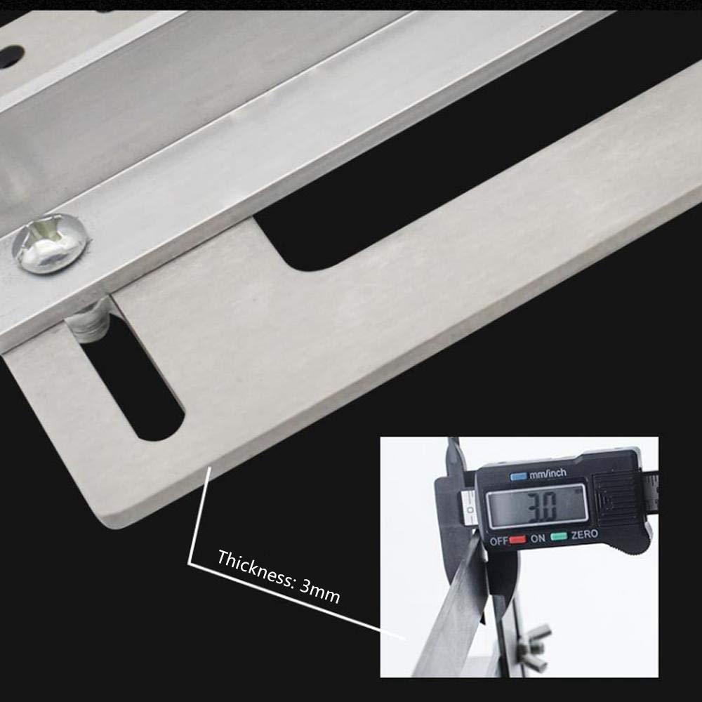 Outils de Travail du Bois avec /échelle pour poign/ée de Porte Guide de per/çage Volwco Localisateur de Trou pour poign/ée de Porte en Acier Inoxydable