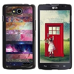 Be Good Phone Accessory // Dura Cáscara cubierta Protectora Caso Carcasa Funda de Protección para LG OPTIMUS L90 / D415 // universe sky nature lines pattern star