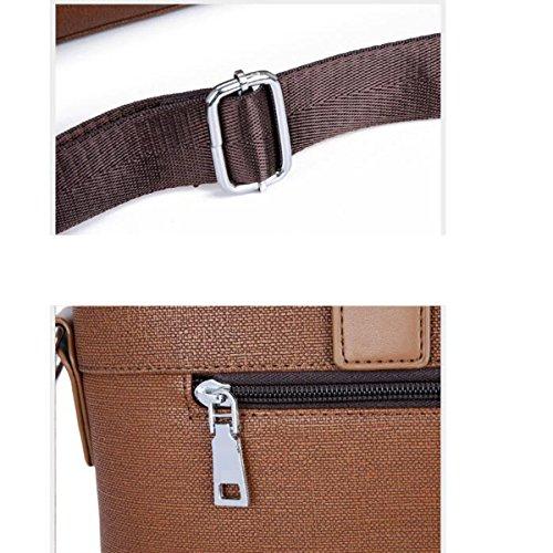 Brown Práctico Taleguilla Taleguilla Negocios Negocios De Informal De Hombro Bolso De Hombre Portable Moda Para El qpZwx8AY