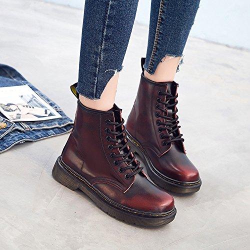 Unisexes Doublure 1 Antidérapantes Fourrure Chaussures D'hiver rouge Bottes Ukstore vxf1E6wqw