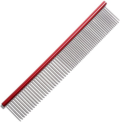 Homdox Pet Grooming Comb Stainless Steel Lightweight Dog Combs for (Lightweight Comb)