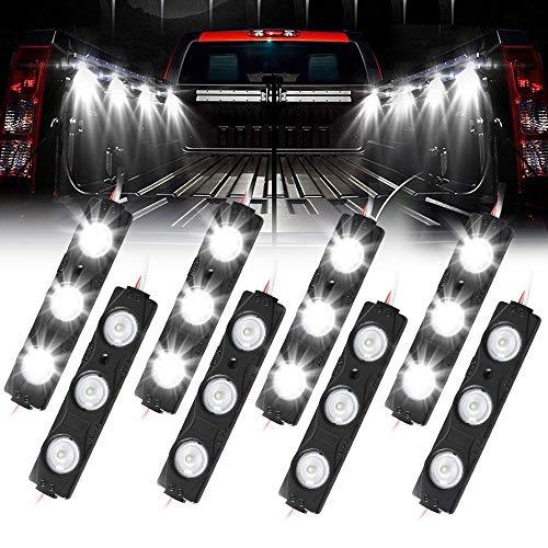 Truck Bed Lights, AAIWA LED Rock Light for Truck Pickup Bed, 24 LEDs Off Road Under Car, Side Marker LED Rock Lighting Kit White – 8 PCS