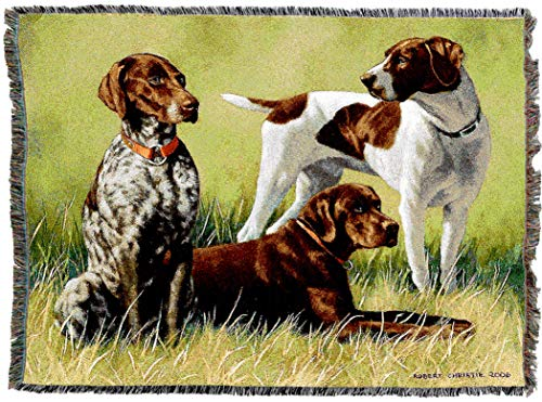 Pure Country Weavers - Variations On A Breed Woven Tapestry Throw Blanket with Fringe Cotton USA Size 72 x 54