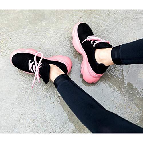 Zxcer Deportivas Tenis Negro Caminar Zapatillas Mujer Para Calzado Entrenamiento Ligero Correr De 8nq8Arw7