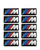 10Pcs Car Tec Sport Wheel Badge 3D M Emblem Sticker Wheel Decal