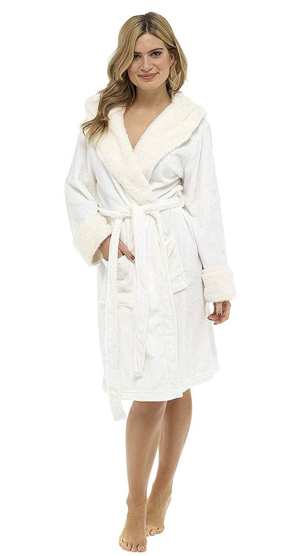 Idea Originale per Un Regalo di Compleanno Vestaglia Donna Invernale in Morbidissimo Pile CityComfort Vestaglia da Donna con Cappuccio Un Regalo di Natale