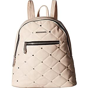 Rampage Womens Quilted Stud Midi Backpack Blush One Size