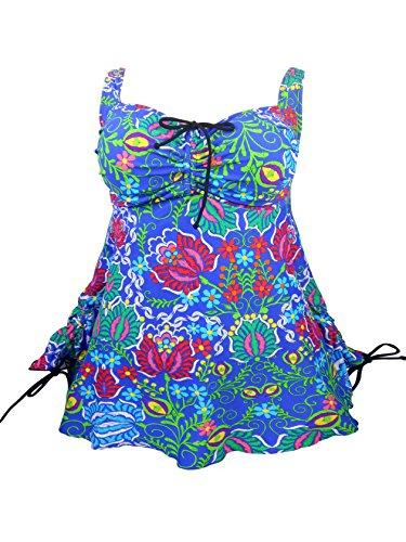 1c5b47735941c SUBOCA Women's Plus Size Swimsuit Tankini Tops Maternity Bathing suit  Swimming Shirt