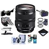 Sigma 24-70mm F2.8 DG OS HSM IF ART Lens - Bundle 82mm Filter Kit, LensAlign MkII Focus Calibration System, Flex Lens Shade, FocusShifter DSLR Follow Focus, Software Package More