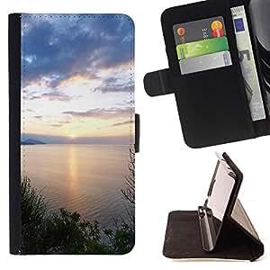 For Samsung Galaxy Core Prime - Nature Beautiful Forrest Green 124 /Funda de piel cubierta de la carpeta Foilo con cierre magn???¡¯????tico/ - Super Marley Shop -