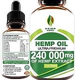 Hemp Oil Drops 240 000 mg, 100% Natural
