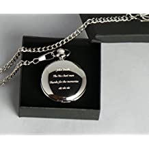 Godfather Godparent Gifts, Engraved Personalised, Masons Of London Pocket Watch in Gift Box 18th, 21st, 40th, 50th, 60th, Birthdays, Retirement, Best Man, Weddings, New Job by GPO Group