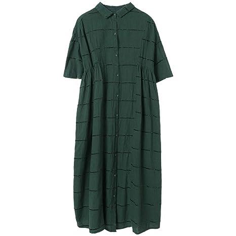 BINGQZ Casual Vestido Vestido de Primavera y otoño de Las Mujeres ...