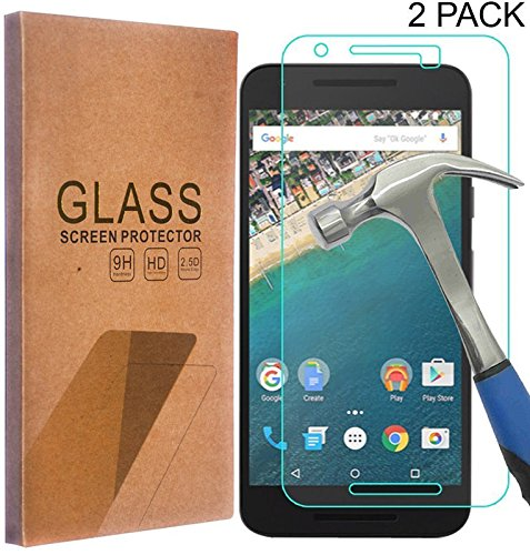 2 x Tempered Glass Screen Protector for LG Nexus 5X - 6