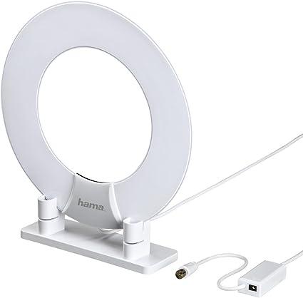 Hama Zimmerantenne Im Ring Design Digital Analog Aktiv Frequenzbereich 470 862 Mhz Geeignet Für Hd Tv Radio Dvb T Dvb T2 Dab Fm Heimkino Tv Video