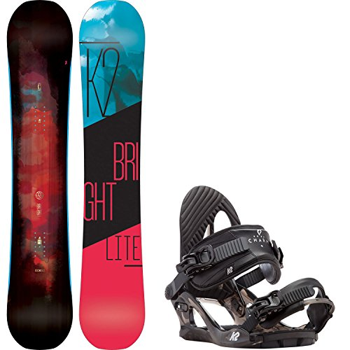 K2 Bright Lite 149cm Womens Snowboard + K2 Charm Bindings - Fits US Wms Boots Sized: 6,7,8,9,10 (Snowboard Womens 149)