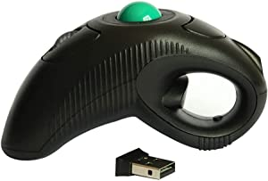 Wireless Ergonomic Handheld Trackball Mouse with Laser Pointer Left Handed Right Handed DPI Adjustable for Laptop Desktop PC Computer