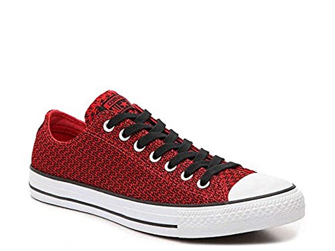 67f87f766a2f96 Converse Mens Chuck Taylor All Star Ox Casino Black Textile Trainers 8 US