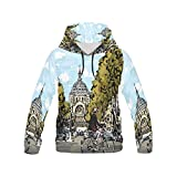 your-fantasia Custom New All Over Print Hoodie Cyclist in Front of Saint Augustin Church Hoodie for Men
