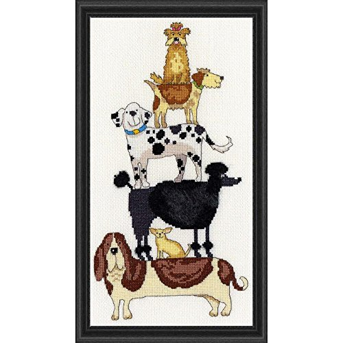 Bothy Threads Dog Stack Counted Cross-Stitch Kit