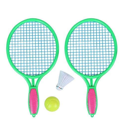 (Leiyini Beach Tennis Racket Children's Outdoor Sports Tennis Racket with Badminton Ball Plastic Beach Paddle Tennis Racket Racquets)