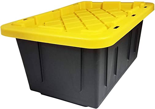 Homz 15-Gallon Durabilt Stackable Storage Container (2 pack)