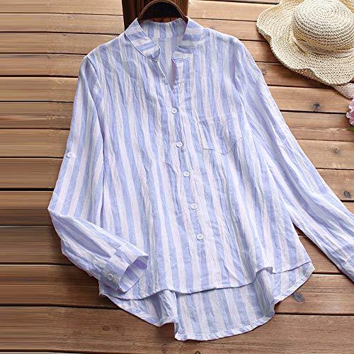 lache Tunique Capuche Quarts Sweat Bouton Tops Trois ray Bleu Chemise Coton de Chemisier Manteau Femmes 1 dcontract Manches MORCHAN Veste x61TIvqB1w