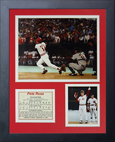 "Legends Never Die ""Pete Rose Hit #4192"" Framed Photo Collage, 11 x 14-Inch"